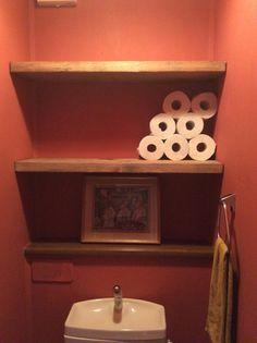 【トイレ改造③】ツーバイ材で棚を作る★天井も100均で変えてきます