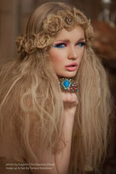 puffy crimped hair, hair flower crown optional but very encouraged x-pin it by #carden