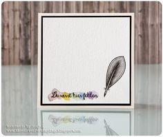 "Trauerkarte | Sympathy or mourning card - Create A Smile Stamps ""Botanical Love"", ""Hey, Quatschkopf"", Kuretake Gansai Tambi, Faber-Castell Polychromos"