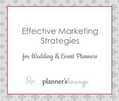 Effective Marketing Strategies for Event Planners