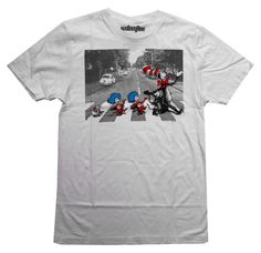 Amazon.com: Dr Seuss Cat In The Hat Abbey Road Tribute Mighty Fine Cartoon Adult T-Shirt Tee: Clothing
