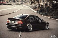 BMW E46 M3 black deep dish