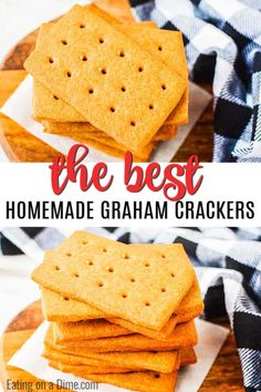 You have to try this fun homemade graham crackers recipe. They are fun and easy to make with the kids. Once you have homemade you'll never turn back! Graham Cracker Recipes, Homemade Graham Crackers, Easy Family Meals, Easy Meals, Easy Recipes, How To Make Graham, Easy Snacks For Kids, Honey And Cinnamon, Love Eat