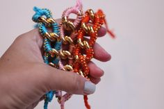 DIY: chunky link friendship bracelet.