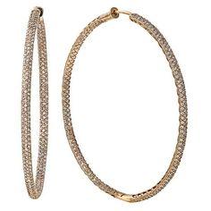 Effy Jewelry 14K Rose Gold Diamond Hoop Earrings, 1.91 TCW (51.560 HRK) ❤ liked on Polyvore featuring jewelry, earrings, pink gold hoop earrings, diamond jewellery, 14k jewelry, diamond hoop earrings and 14 karat gold earrings
