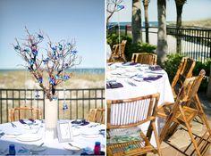 Beach Wedding | True Era Photography #beach #wedding #bride #bouquet #portrait #weddingdress #updo #boardwalk #oneocean #weddingphotography #weddingphotographer #jacksonville #jacksonville #florida #bouquet #details #reception #outdoors #decor #floral #purple #blue #summer