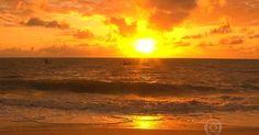 Nascer e pôr do sol são atrações em praias de João Pessoa
