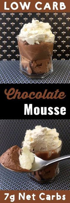 This easy Low Carb Chocolate Mousse recipe has only 7g net carbs per serving It is Keto, Atkins, THM-S, LCHF, Gluten Free and Sugar Free compliant. It's also tasty as all get out. #resolutioneats #lowcarb #keto #mousse #chocolate
