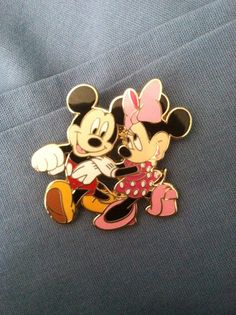 Mickey and Minnie out for a stroll  Pin