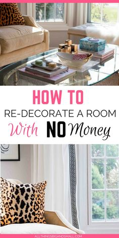 How to Decorate a Room with No Money -- Room Design and Layout tips ALL THINGS BIG AND SMALL