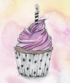 cupcake drawing | Cupcake Zeichnung | Buntstifte| Wasserfarben Painting Birthday, Banksy Art, Drawings, Colored Pencils, Cute Cupcake Drawing, Art, Watercolor Sketch, Water Color Pencil, Cupcake Drawing