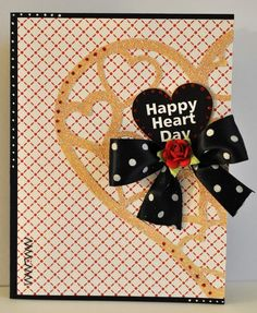 Happy heart day  heart lace shaped card set