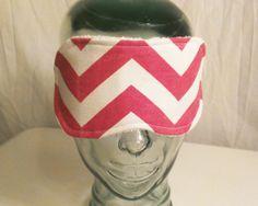 Pink and white chevron  sleep mask eye mask sleep shade blindfold