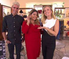 Angélica com Fabiana Karla e seu stylist (Foto: TV Globo)