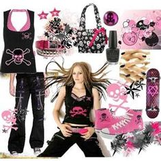 Clothing Fashion For  Rock Outfitsemo Outfitsschool Outfitscute