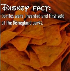 I knew this already doritos bought the idea because of the success of them in disney land Disney Fun Facts, Disney Memes, Disney Quotes, Disney World Facts, Disney Trivia, Disneyland Secrets, Disney Secrets, Disneyland Hacks, Disney Love