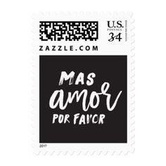 Mas Amor Por Favor Stamp - valentines day gifts love couple diy personalize for her for him girlfriend boyfriend
