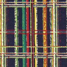 Vintage 1950's plaid barkcloth