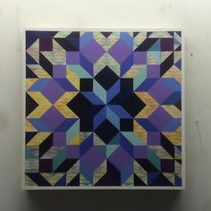 Sure did. #studio #painting #quilt #quilting #pattern #purple...