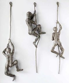 Contemporary art, Climbing man sculpture on the rope, Decorative art, wall hanging, abstract metal wall sculpture – art Wire Art Sculpture, Paper Mache Sculpture, Abstract Sculpture, Sculpture Ideas, Sculptures Sur Fil, Metal Wall Art, Wire Wall Art, Artwork Wall, 3d Wall Art