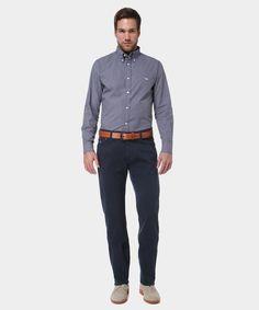 Idea regalo: Camicia in Cotone con Micro Fantasia a Quadretti Nero e Blu www.privalia.com