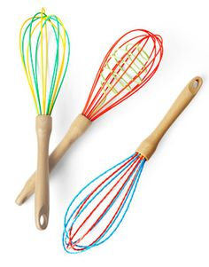 Make sure you get sturdy silicone coated whisk. So you can use it in your pans on the stove without scratching them up!