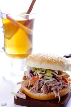 Slow Cooker Apple Cider Pulled Pork... what a simple and easy fall meal!