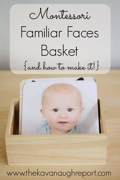 Creating a picture basket with familiar faces. Links included for creating your own.