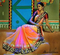 Looks Beautiful Double Shaded Sarees | IndianWearFans