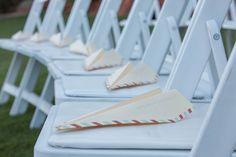 Paper Airplane wedding ceremony programs