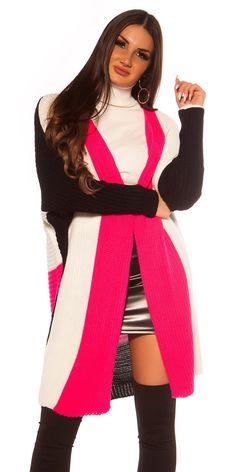 Trendy pruhovaný oversized kardigan bez zapínania. Univerzálna veľkosť. Fashion, Dress, Moda, Fashion Styles, Fashion Illustrations