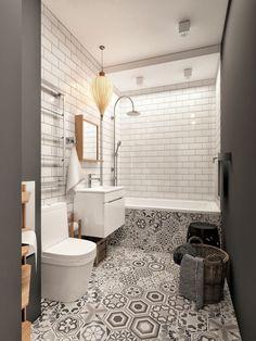 Ванная: Плитка, размещение предметов
