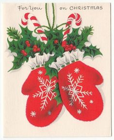 vintage mitten greeting - Yahoo Canada Image Search Results