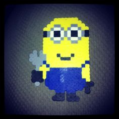 Minion holding a wrench perler beads by evolvegroup_kandiman