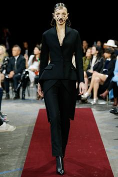 """""""Sleek suiting"""" Givenchy Fall 2015 RTW Collection - Style.com. Long live fashion: LÜR Nail presents the best designer runway looks of the Paris Autumn/Winter 2015 Collections."""