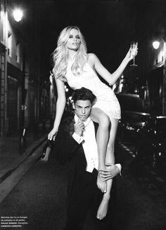 Models Natasha Poly & Baptiste Giabiconi, photographer Karl Lagerfeld for Numéro #116