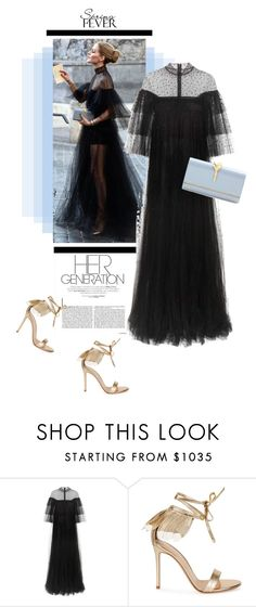 """""""Olivia"""" by theitalianglam ❤ liked on Polyvore featuring Valentino, Gianvito Rossi, valentino and ruffles"""