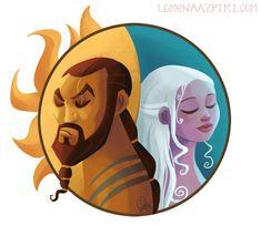 De pelis y series, por Lorena Azpiri en series tv | Dibujando.net #fan-art #series-tv #caricatura #juego-de-tronos #game-of-thrones #daenerys #peliculas