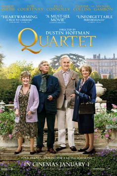 Quartet; Here is a list of romance films about older couples. #romanticmovies #moviestowatch #list #grandparentsday #lovemovies #classicfilms Best Movies List, Good Movies On Netflix, Good Movies To Watch, All Movies, Movie List, Movies Online, 2012 Movie, Movie Tv, Worth It