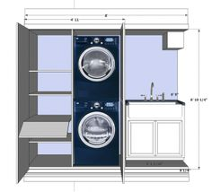 Exactly what I want to do with my laundry room.                                 Meredith Heron Design #Dupont Laundry Room scheme