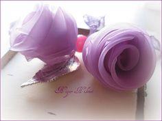 Organza Flowers, Diy Flowers, Fabric Flowers, Paper Flowers, Ribbon Art, Ribbon Flower, Flower Video, Wedding Ornament, Fabric Paper