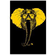 """Elephant Gasmask"" Print by Mindzai Creative"