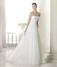 Introducing our San Patrick 2015 Collection by Pronovias. Exclusive designer wedding dresses for all our trendy/chic brides. Stunning Wedding Dresses, 2015 Wedding Dresses, Designer Wedding Dresses, Wedding Attire, Wedding Gowns, San Patrick, Bridal Gown Styles, Wedding Dress Styles, Bridal Gowns