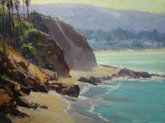 RUSTY JONES COASTAL GLARE oil on canvas 18 x 24 in (45.72h x 60.96w cm) $3,800  www.trailsidegalleries.com