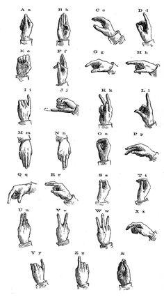 vintage sign language