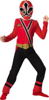 Boys Power Rangers Samurai Red Ranger Costume - Party City  sc 1 st  Pinterest & Sabanu0027S Power Rangers Samurai Gold Ranger Classic Muscle Costume ...