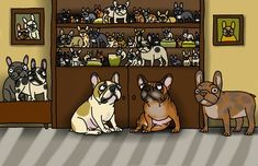 French Bulldog Pictures, Bullying, Scooby Doo, Bulldogs, Fictional Characters, Honey, Art, Hunting, Art Background