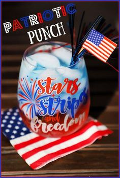 This family friendly drink that I call Patriotic Punch is fun and fruity and made with just 3 simple ingredients. Make it this summer for your of July celebrations! Blue Food Coloring, Fried Pickles, Arancini, 4th Of July Celebration, Clam Chowder, Bread Bowls, Holiday Recipes, Holiday Themes, Party Recipes