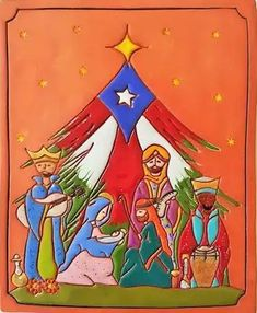 Hispanic Art, Colombian Art, Xmas Pictures, Christmas Nativity, Puerto Ricans, Projects To Try, Christmas Decorations, Greeting Cards, Canvas