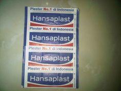 Hansaplast = Pembalut luka  untuk semua merk termasuk tensoplast, handyplast, kansaplast .. orang jawa bilangnya Tancoplas.. haha